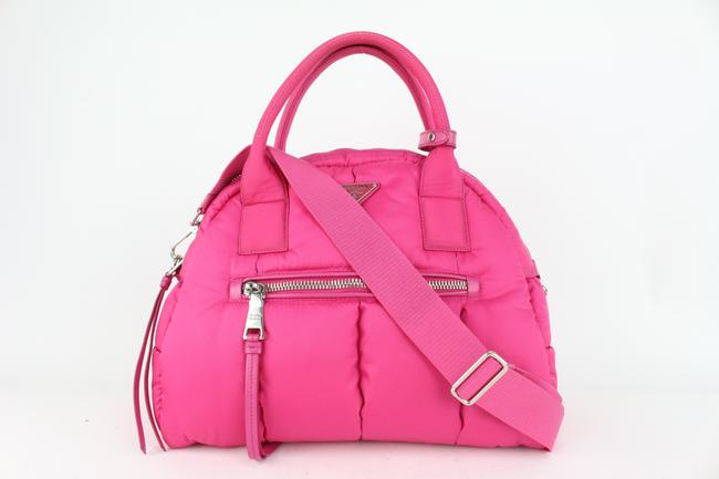 Item - Quilted Tessuto Bomber 2way Dome 203pr84 Pink Nylon Cross Body Bag