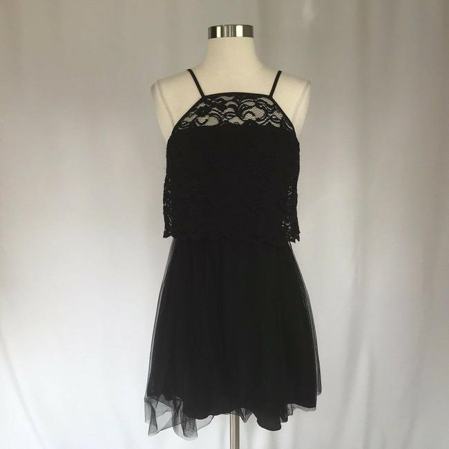 Item - Black Women's Lace Fit and Flare Cocktail Dress Size 4 (S)