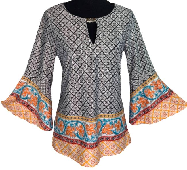 Item - Multicolor Bell Sleeve Blouse Size 4 (S)