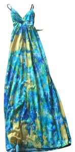 Green Yellow Multi Maxi Dress by Allison Brittney