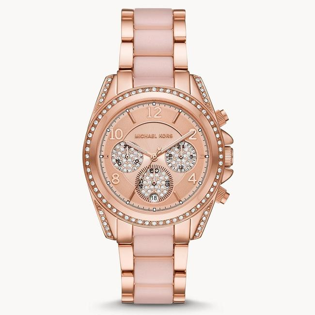 Item - Pink/Rose Gold-tone Blair Chronograph Stainless Steel Mk6763 Watch