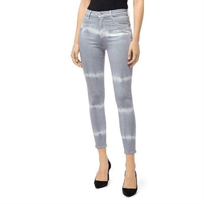 Item - Gray and White Alana Georgetown Shockwave High-rise Crop Skinny Jeans Size 8 (M, 29, 30)