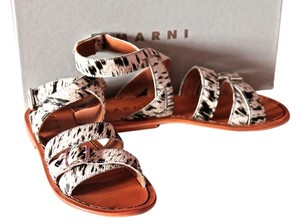 Marni Ponyhair Black/White Sandals