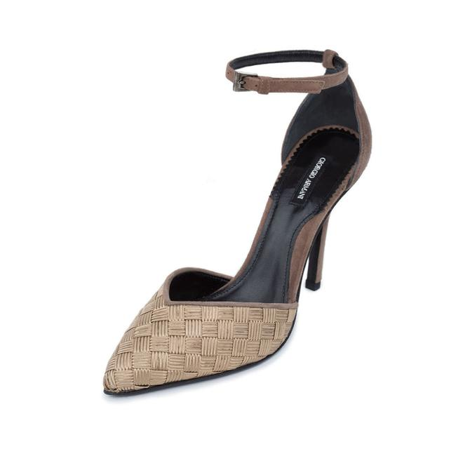 Item - Gold New Luxury Genuine Leather & Suede Pointed Toe D'orsay Stiletto Pumps Size US 10 Regular (M, B)