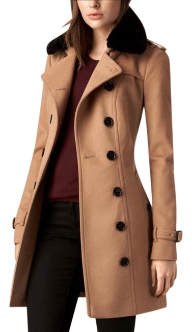 Item - Camel London Sandringham Wool & Cashmere with Removable Genuine Fox Fur Collar Coat Size 2 (XS)