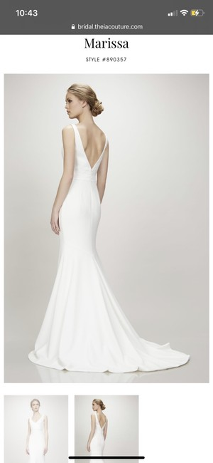 Item - Ivory Theia Couture Marissa Gown Modern Wedding Dress Size 10 (M)
