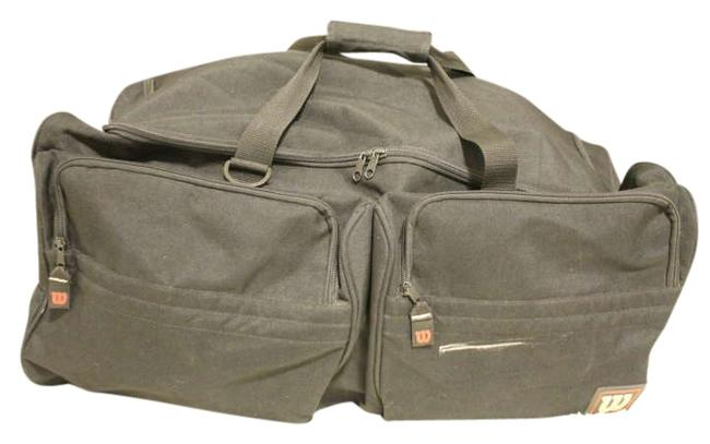 Item - Duffle Luggage On Wheels Black Nylon Weekend/Travel Bag