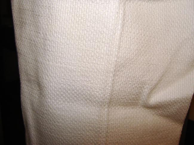 Magaschoni Woven Cotton Textured Tweed Side-zip Trouser Pants White Image 3