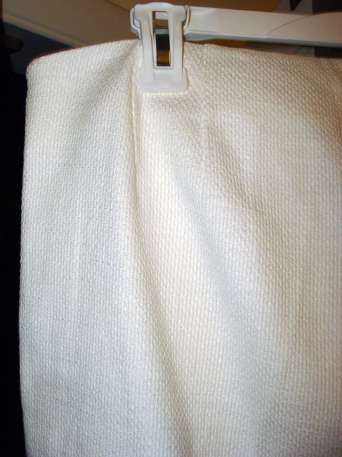 Magaschoni Woven Cotton Textured Tweed Side-zip Trouser Pants White Image 4