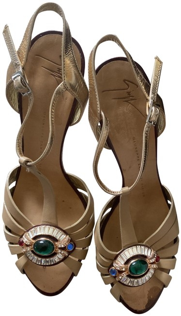Item - Gold Cream Red Green Formal Shoes Size EU 37.5 (Approx. US 7.5) Regular (M, B)
