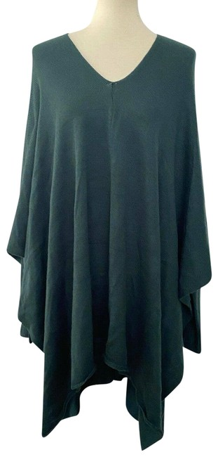 Item - XL New V Neck Poncho Long Sleeves Deep Spruce Green Sweater