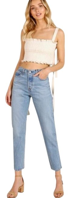 Item - Blue Light Wash Wedgie Icon Fit High Waist Straight Leg Jeans Size 24 (0, XS)