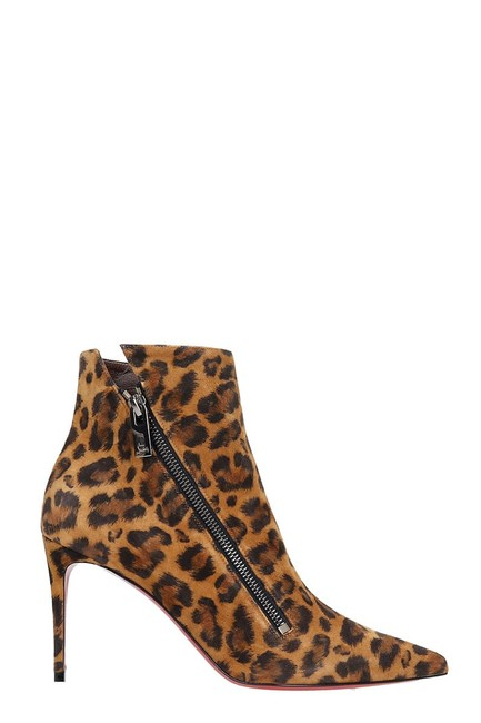 Item - Brigikate 85 Animalier Suede High Heels Ankle Boots/Booties Size EU 38.5 (Approx. US 8.5) Regular (M, B)