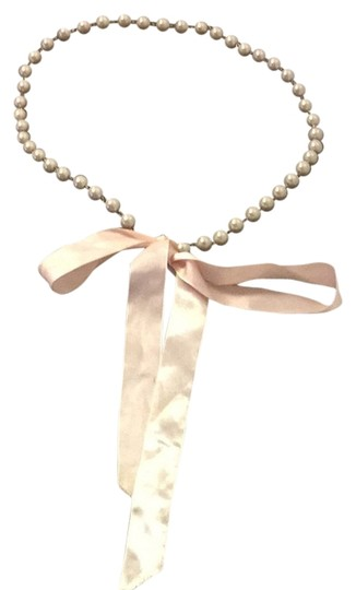 Preload https://item2.tradesy.com/images/whitesilverbaby-pink-pearl-and-ribbon-belt-2960986-0-0.jpg?width=440&height=440