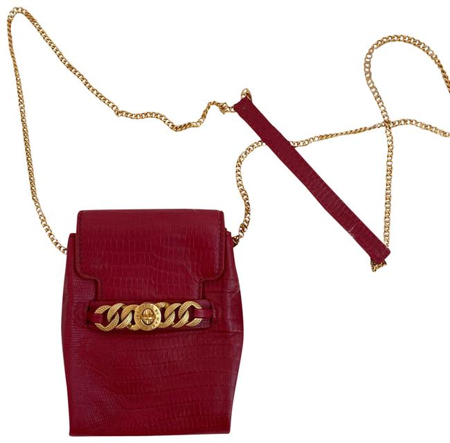 Item - Chain Wallet Chain Red Leather Cross Body Bag