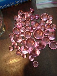 Assorted Light Pink Diamonds