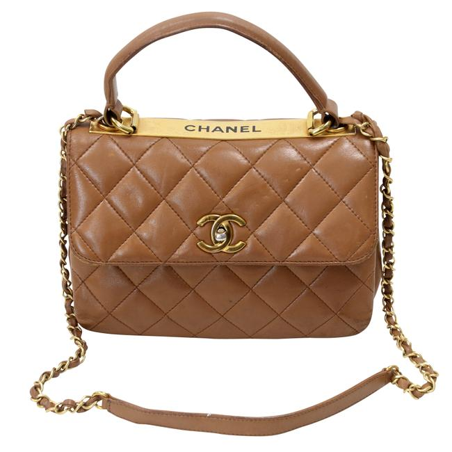 Item - Timeless Tote Large Quilted Trendy Cc Flap Black Lambskin Shoulder Ba Brown Leather Cross Body Bag