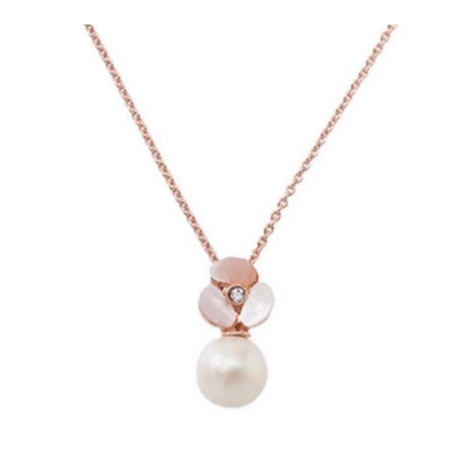 Item - Rosegold • Disco Pansy Pearl Mini Drop Necklace