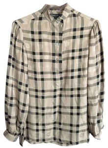 Turnbull & Asser Top Beige Plaid