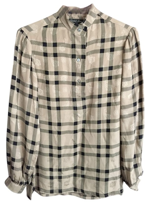 Preload https://item1.tradesy.com/images/turnbull-and-asser-top-beige-plaid-2961355-0-0.jpg?width=400&height=650