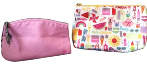Clinique 2-Peice Makeup Bags,Brand New 1 Clinique 1 Lancome.. Both In PERFECT CONDITION!BRAND NEW!