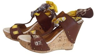 Miss Sixty Tan Wedges