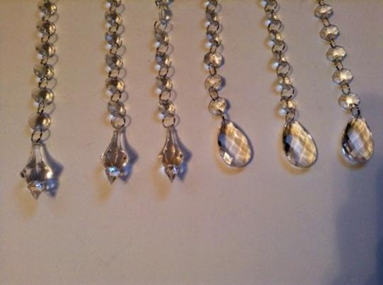 Michaels Clear Crystal Gems Rhinestones 6 Pcs 10 Inches Long Garland Centerpieces