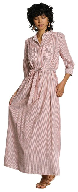Item - Red Los Angeles Cassie Pinstripe Mid-length Casual Maxi Dress Size 2 (XS)