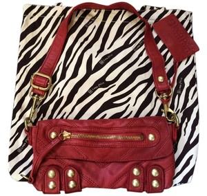 Linea Pelle Studded Red Clutch