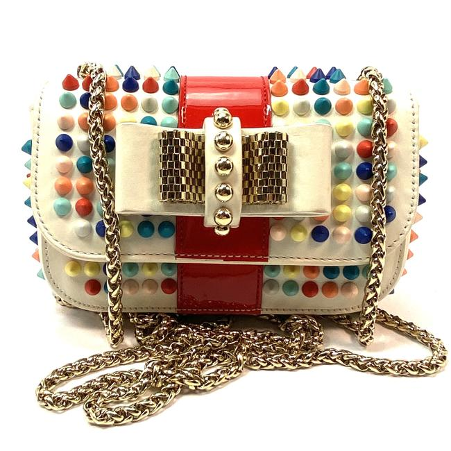 Item - Sweet Charity White Multicolor Leather Clutch
