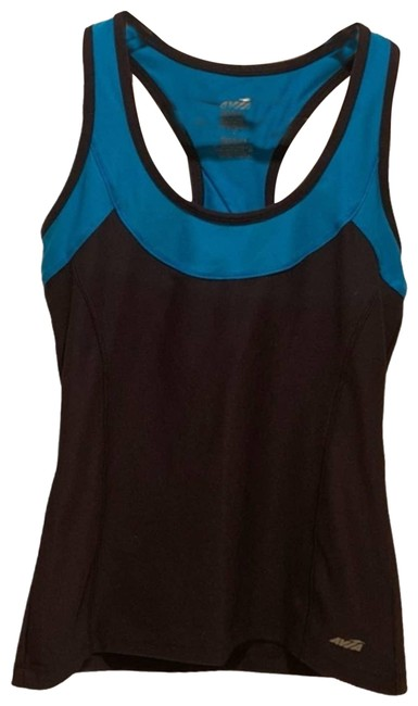 Item - Blue Racerback Black and Small Activewear Top Size 6 (S)