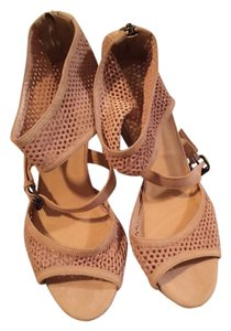 J.Crew Light Tan Sueded Wedges