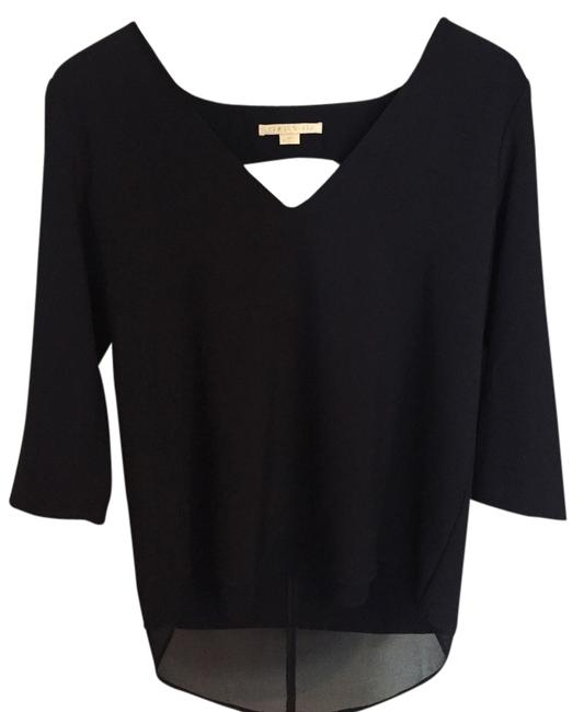 Cooper & Ella Sheer Layered Layer Top Navy