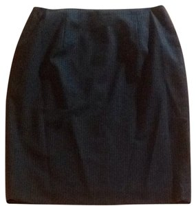 Ann Taylor LOFT Navy Pin Stripe Lined Skirt