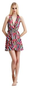 Erin Fetherston short dress Spring Summer Wrap-front Chevron Chiffon on Tradesy