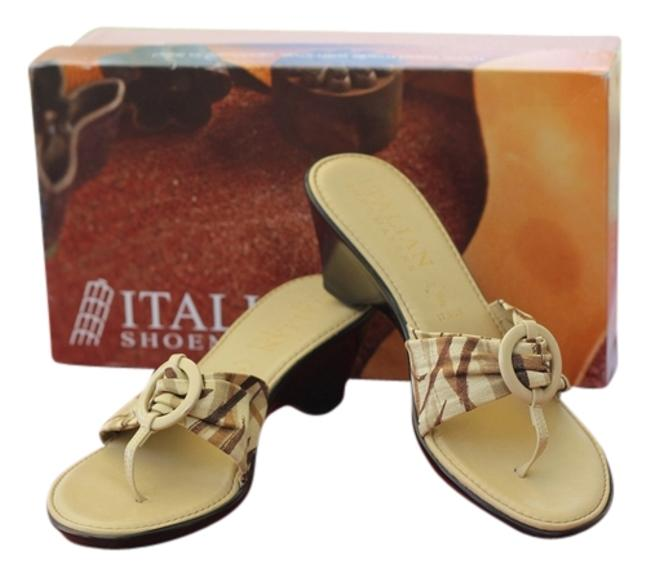 Tan with Plaid Strapy Italian Shoemaker Rare Hand Made Love In Italy Only Worn Once Sandals Size US 6.5 Narrow (Aa, N) Tan with Plaid Strapy Italian Shoemaker Rare Hand Made Love In Italy Only Worn Once Sandals Size US 6.5 Narrow (Aa, N) Image 1