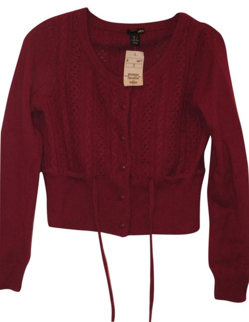 Preload https://item1.tradesy.com/images/h-and-m-cropped-cardigan-raspberry-2962315-0-0.jpg?width=400&height=650