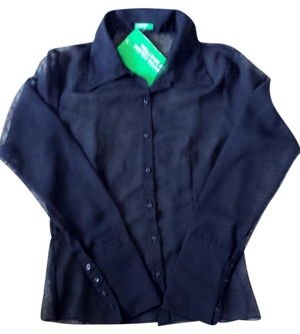 United Colors of Benetton Top Blouse Black Image 0