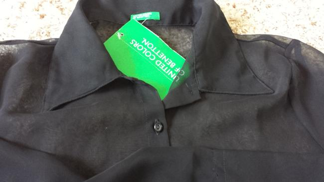 United Colors of Benetton Top Blouse Black Image 1