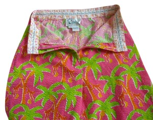Lilly Pulitzer Bermuda Shorts Lime/Fuscia/Orange