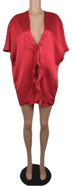 Item - Red Satin Love Heart Robe Night Out Dress Size OS (one size)