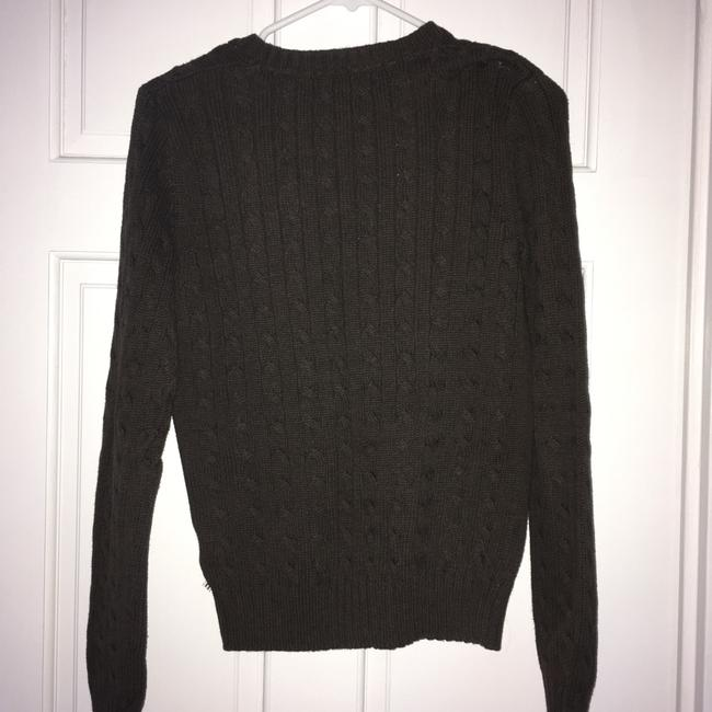 Tommy Hilfiger V-neck Cableknit Brown Sweater Tommy Hilfiger V-neck Cableknit Brown Sweater Image 3