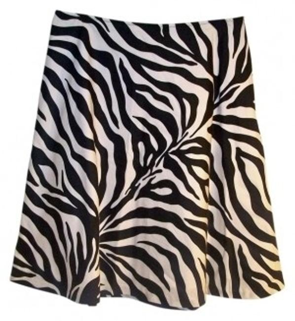 Worthington Skirt BLACK & WHITE ZEBRA PRINT