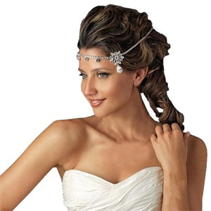 Other Kim Kardashian Inspired Silver Crystal Bridal Headband Headpiece Tiara