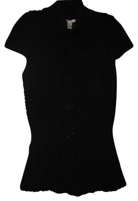 Preload https://img-static.tradesy.com/item/2962693/kenneth-cole-black-chunky-cardigan-size-4-s-0-0-650-650.jpg