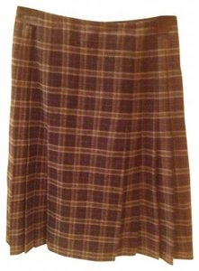 Brooks Brothers Skirt Blue and Grey Plaid