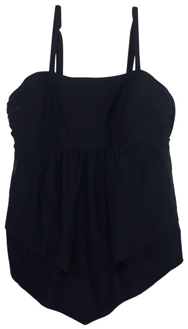 Item - Black No-wire Tankini Swimsuit From One-piece Bathing Suit Size 18 (XL, Plus 0x)