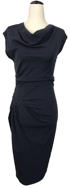 Item - Blue Pullover Stretch Bodycon Gray Mid-length Night Out Dress Size 2 (XS)