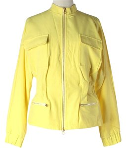 Isaac Mizrahi Water-resistant Yellow Jacket