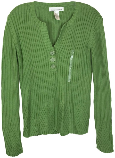 Item - Wide Ribbed Green Sweater